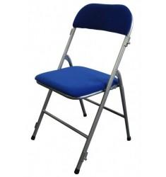 Chaise pliante en velours