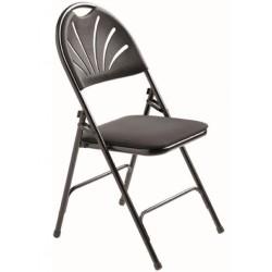 Chaise de collectivités pliante en vinyle Marguerite