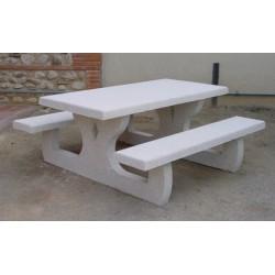 Table de pique-nique en béton rectangulaire Languedoc