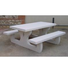 table pique nique rectangulaire en béton armé Languedoc