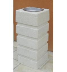 Cendrier en béton gris ou blanc