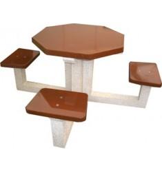 Table pique-nique en béton 4 places