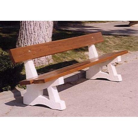 banc public en b ton et lames de bois banc public en b ton leader quipements. Black Bedroom Furniture Sets. Home Design Ideas