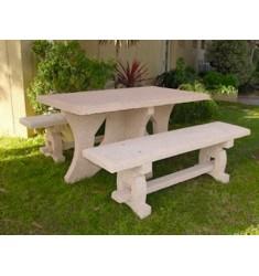 Table de pique-nique en béton armé Caroli