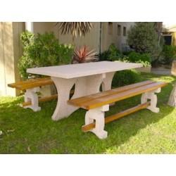 Table de pique-nique bois et béton - Leader Equipements