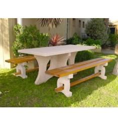 Table de pique-nique en béton armé Leonis
