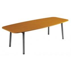 Table en bois de réunion Oblong