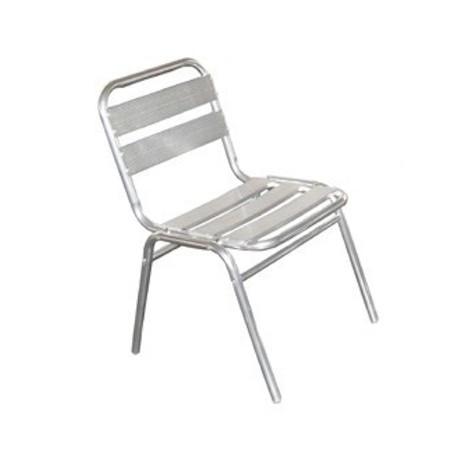 Chaise de collectivité en aluminium
