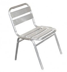 Chaise empilable en aluminium