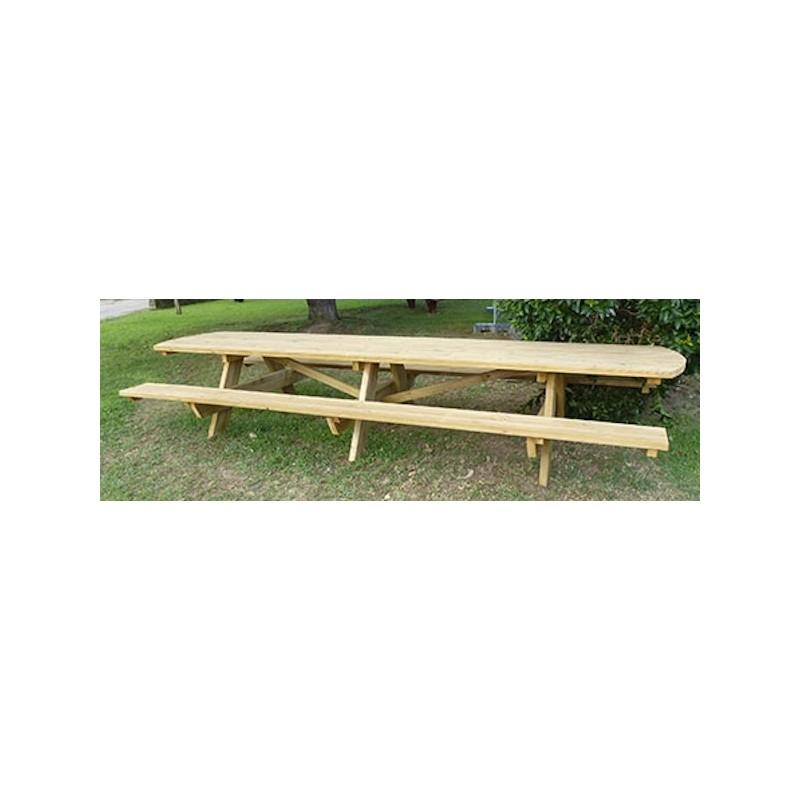 table de pique nique en bois 18 personnes leader quipements. Black Bedroom Furniture Sets. Home Design Ideas