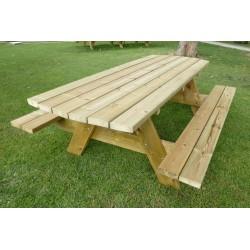 10 personnes - Grande table en bois d'extérieur