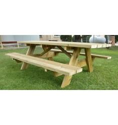10 personnes - Table de pique nique en bois