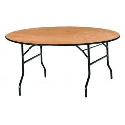 Table terragone ronde en bois pour collectivités