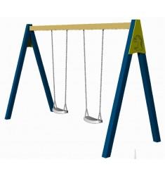 Balancoire tout acier 2 mètres