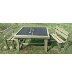 Table banc ardoise