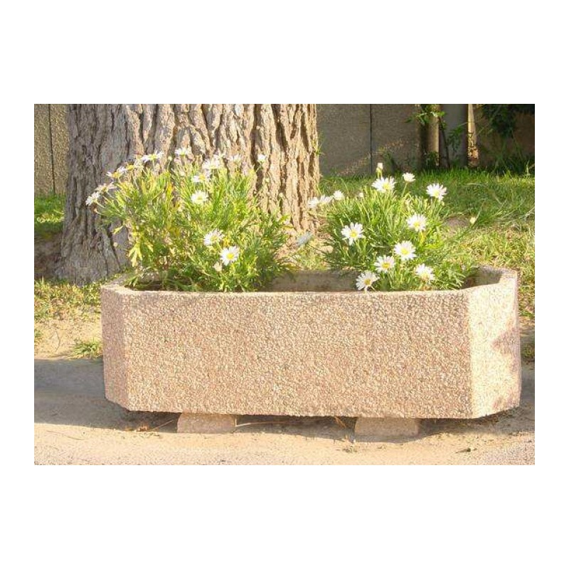 bac fleurs en b ton octogonal jardini re ext rieure en b ton. Black Bedroom Furniture Sets. Home Design Ideas