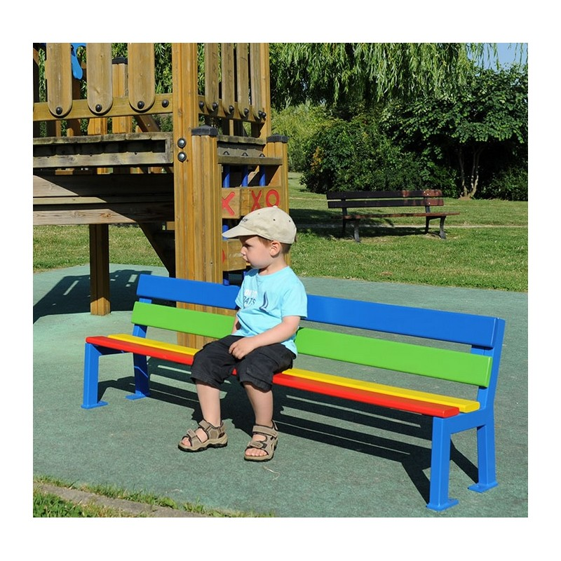 mobilier urbain banc enfant color silaos leader equipements. Black Bedroom Furniture Sets. Home Design Ideas