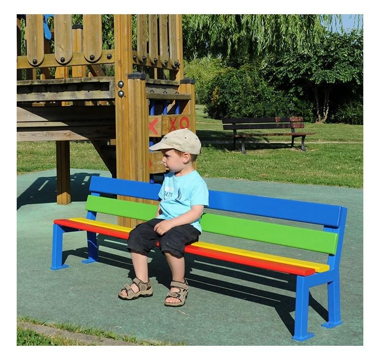 mobilier urbain banc enfant color silaos leader equipements. Black Bedroom Furniture Sets. Home Design Ideas