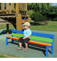 Banc enfant extérieur color Silaos