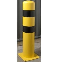 Potelet de protection jaune et noir