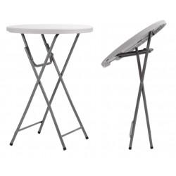 Table haute ronde pliante en polypro