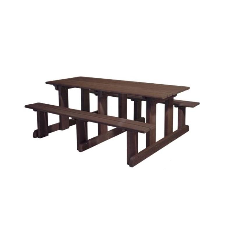 table de pique nique ext rieur en plastique recycl. Black Bedroom Furniture Sets. Home Design Ideas