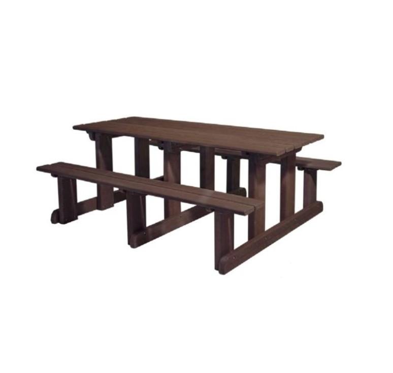 table de pique nique ext rieur en plastique recycl camping mobilier urbain en recycl. Black Bedroom Furniture Sets. Home Design Ideas
