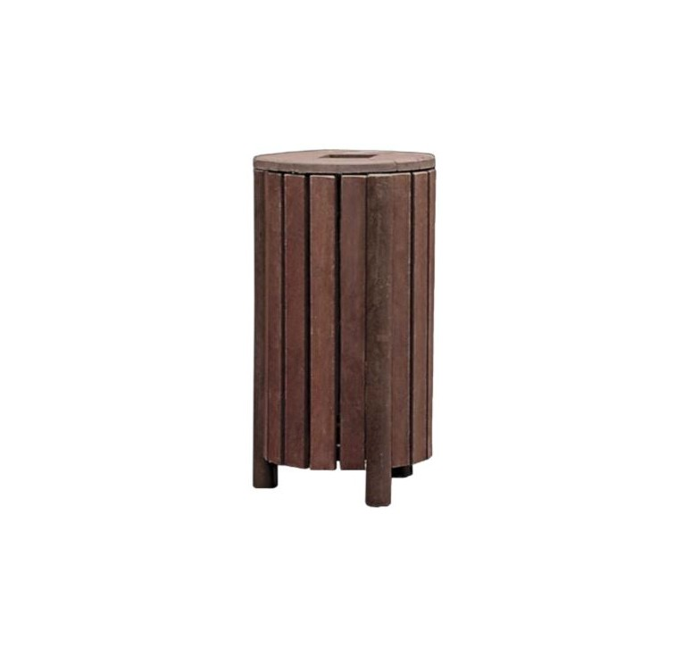 poubelle de ville en plastique recycl corbeille en recycl mobilier urbain recycl leader. Black Bedroom Furniture Sets. Home Design Ideas