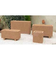 Jardinière Akhenaton rectangulaire en béton