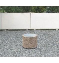 Jardinière Cléopâtre ronde en béton