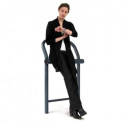 Banquette publique en métal type assis debout