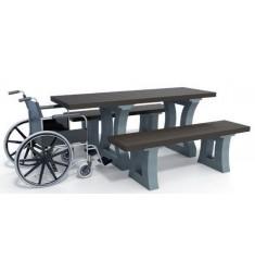 table de pique nique eden plastique recycl table d. Black Bedroom Furniture Sets. Home Design Ideas