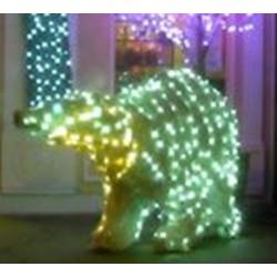 Décoration et illumination de Noël : ours lumineux en 3D - Leader Equipements