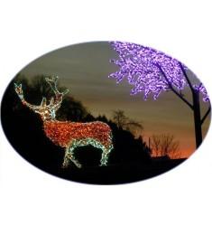 Cerf lumineux en 3D