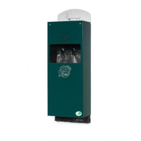 Distributeur de doggybag avec cendrier - vert mousse - Leader Equipements