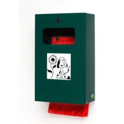 Distributeur de doggybag avec seau - vert mousse - Leader Equipements