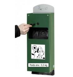 Distributeur de sacs hygiéniques canins avec cendrier