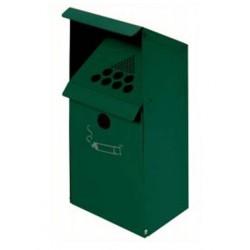 Cendrier en métal - Mural - vert - Leader Equipements