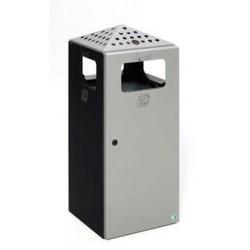 Cendrier avec poubelle cubique - Leader Equipements