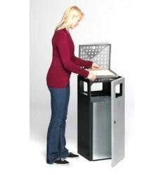 Cendrier poubelle cubique en acier