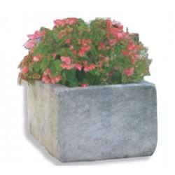 Jardinière rectangulaire en pierre reconstituée - Leader Equipements