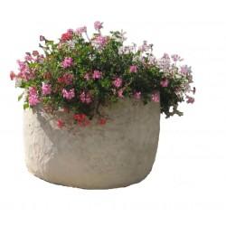 Visuel de la jardinière ronde en pierre reconstituée - Leader Equipements