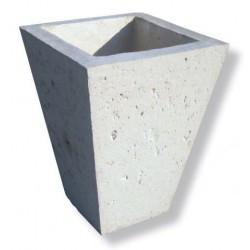 Visuel du vase conique de pierre reconstituée - Leader Equipements