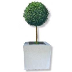 Visuel du bac à fleurs carré de pierre reconstituée - Leader Equipements