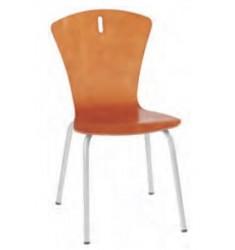 Chaise à coque bois scolaire