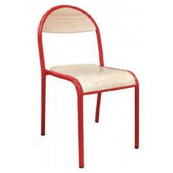 Visuel de la chaise scolaire empilable 4 pieds Cathy - Leader Equipements