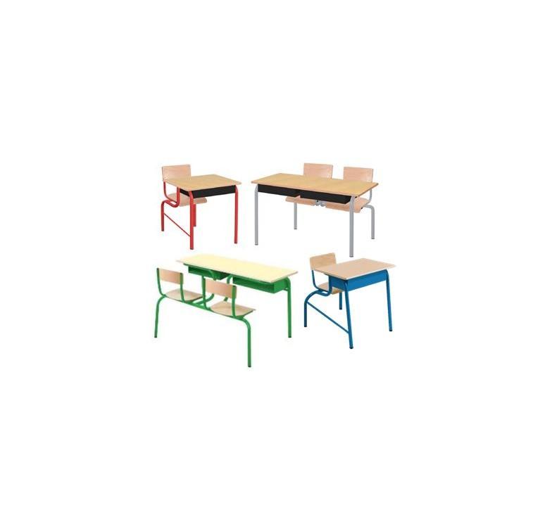 Bureau monobloc mobilier scolaire fabriquant de for Bureau 50 cm de large
