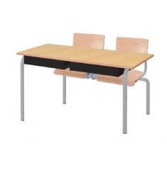 Bureau scolaire Lara avec assises attenantes