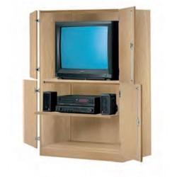 Visuel du meuble armoire rangement audiovisuel pour école - Leader Equipements