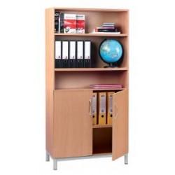 Armoire de rangement avec espace bibliothèque - Leader Equipements